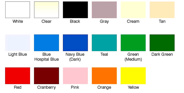 color pvc cards colorchart