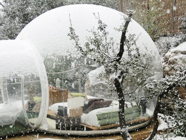 christmas bubble tent
